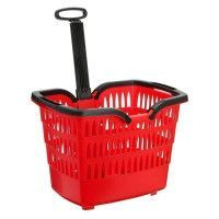 ROTO Panier Trolley Romeo - Avec attache guidon velo - Rouge
