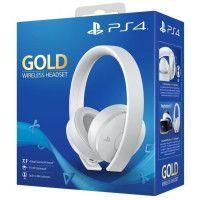 Casque Sans Fil Gold White Sony Virtual Surround Sound 7.1 pour PS4 - Optimise PS VR
