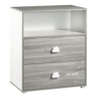 BABYPRICE  Commode a Langer Smile Chene Silex 2 Tiroirs