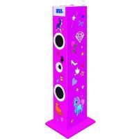 BIGBEN TW5RSSTICK Tour de son multimedia avec micro - 180 Stickers - 60W - Rose