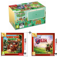 New 2DS XL Ed Animal Crossing + Donkey Kong Country Returns + The Legend of Zelda : Ocarina of Time