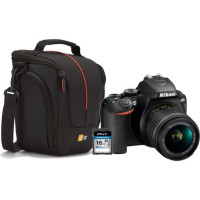 NIKON D3500 Appareil photo Reflex 24.2MP + CASE LOGIC Sacoche + PNY Carte 16 Go