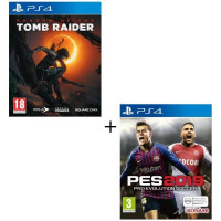 Pack jeu PS4 : PES 2019 + Shadow of the Tomb Raider