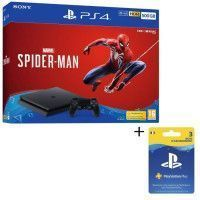 Pack PS4 1 To Noire + Marvels Spider-Man + Abonnement Playstation Plus 3 Mois