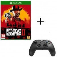 Red Dead Redemption 2 Jeu Xbox One + Manette PDP Afterglow Noire Xbox One