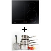 Pack cuisson SAMSUNG NZ64K5747BK - Table de cuisson a induction - 4 zones - 7200W - L60 x P52cm +  Set 5 pieces tous feux