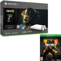 Xbox One X 1 To Fallout 76 Edition limitee Robot White + Call of Duty Black Ops 4