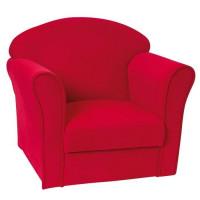 JEMINI Fauteuil Luxe Uni rouge