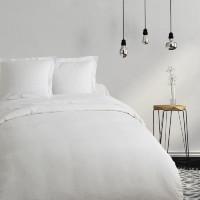 COTE DECO Housse de couette 100% coton 220x240 cm - Blanc