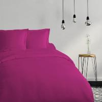 COTE DECO Housse de couette 100% coton 140x200 cm - Violet