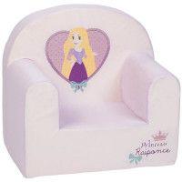 DISNEY Fauteuil droit dehoussable Princesse Raiponce - 25 cm - Jersey 65% polyester 35% coton