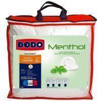 DODO Couette Menthol - 100% polyester traite - 200 x 200 cm - Blanc