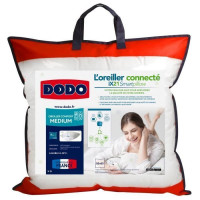 DODO Oreiller Connecte SmartPillow - 100% coton - 60x60 cm