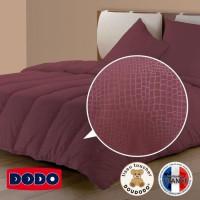 DODO Couette temperee Tendance Croco - 220x240 cm - Prune