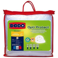 DODO Couette temperee 300g/m2 OPTI-PROTECT 200x200 cm blanc