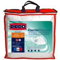 DODO Couette chaude 400gr/m2 DACRON REBOND 220x240 cm blanc