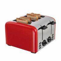 DOMOCLIP DOD153 Grille-pain electrique retro - Rouge