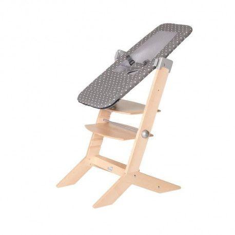 GEUTHER Transat Sitn Sleep adaptable sur la chaise SYT - Naissance a 9 kg - Gris avec points