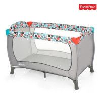 HAUCK - lit parapluie sleep n play - Fisher Price - grey