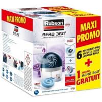 PROMO RUBSON Lot de 6 Recharges AERO 360 lavande + 1 appareil AERO 360 20m2 gratuit