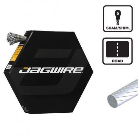 JAGWIRE Lot de 100 cables de frein Slick Stainless - 1.5 x 1700 mm - Sram et Shimano