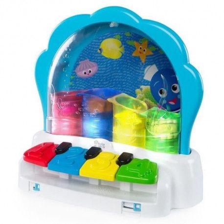 BABY EINSTEIN La palourde musicale Pop + Glow Piano- Bleu
