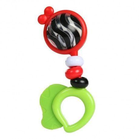 BABY EINSTEIN Hochet et jouet de dentition Bright Bold Rattle + Teether - Multicolore
