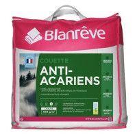 BLANREVE Couette chaude 400gm2 Anti-Acariens 140x200 cm blanc