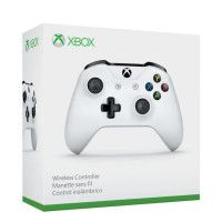 Manette sans fil Xbox One blanche compatible PC