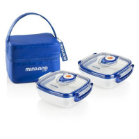MINILAND BABY Sac repas isotherme Pack-2-go Hermifresh - Bleu