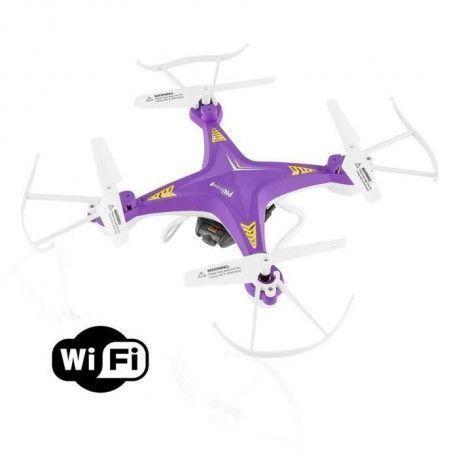 PNJ Drone Aero 1 avec camera integree - WiFi et VGA - Flip 360 - Radio-commande 30m
