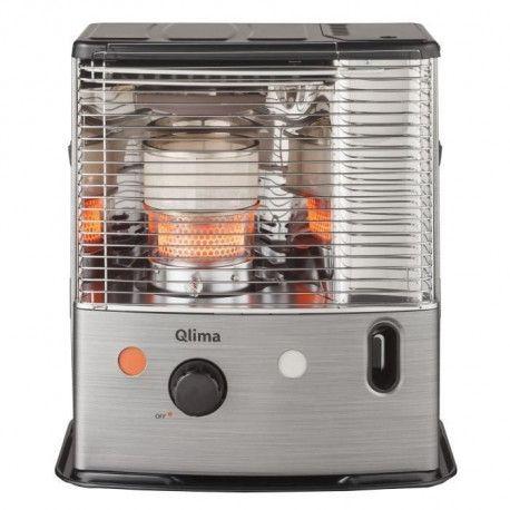QLIMA R8224SC 2400 watts Poele a petrole a meche - Double combustion - Detecteur CO2 et arret si basculement - NF