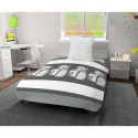 SOLEIL DOCRE Couette imprimee Petale - 140x200 cm - Blanc