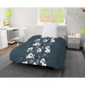 SOLEIL dOCRE Couette imprimee Aquarelle 140 x 200 cm - Bleu