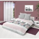 SOLEIL DOCRE Couette imprimee Petale - 220x240 cm - Rose