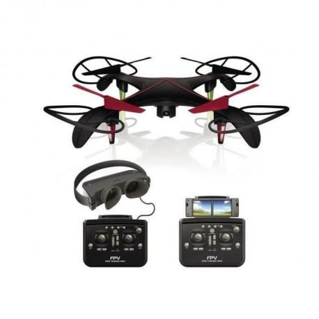 SILVERLIT - Drone Telecommande Noir avec Camera- Blacksior FPV Pilotage en immersion - 40 cm - Masque FPV video en temps reel