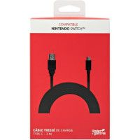 Cable de charge tresse pour Nintendo Switch - Noir