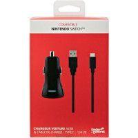 Chargeur voiture et cable de charge USB type C1 pour Nintendo Switch Noir Proxima Plus