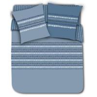 FINLANDEK Parure de couette 100% Coton LINE - 1 Housse de couette 220x240 cm + 2 Taies dOreillers 63x63 cm