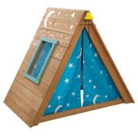 KIDKRAFT - Tipi cabane en bois enfant avec mur descalade