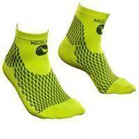 Socquettes de compression sport We Perf jaune