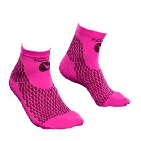 Socquettes de compression sport We Perf rose