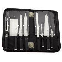 Mayerhoff MH-KN09-K: Ensemble de 9 couteaux avec sac de transport