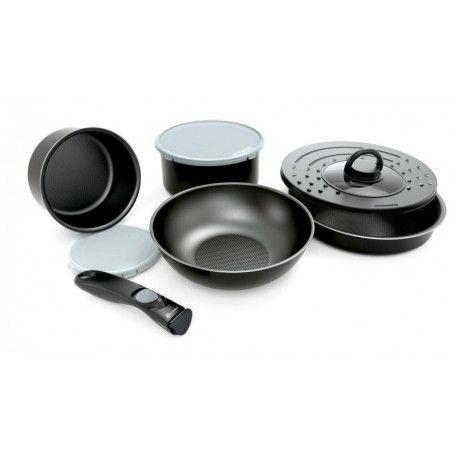 Batterie de cuisine BATTRINOX IDEO Set 8 pièces Noir