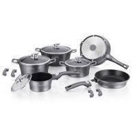 1300 ml TOAKS Batterie de cuisine ultra l/ég/ère en titane avec casserole et po/êle /à frire pour camping et pique-nique 1100 ml 1600 ml 1350 ml