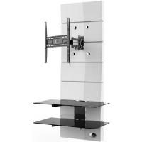 MELICONI Meuble TV support orientable 32 a 63 81-160 cm - Jusqua 30 kg - Blanc