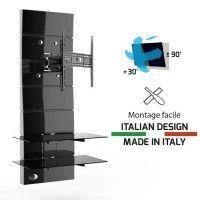 MELICONI Meuble TV support orientable 32 a 63 - Jusqua 30 kg - Noir