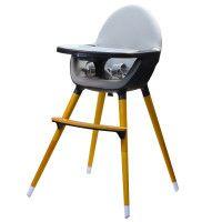 Kinderline Kinderline WHC-701.1 DARKGREY: Chaise haute Pod Timber - Gris foncé