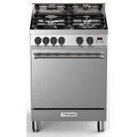 BOMPANI BTECH66IX - Cuisiniere table gaz - 4 foyers - Four electrique multifonction - Catalyse - 58 L - B - L 60 x H 80 cm - Noi