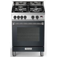 BOMPANI BTECH66NR - Cuisiniere table gaz - 4 foyers - Four electrique multifonction - Catalyse - 58 L - B - L 60 x H 80 cm - Ino